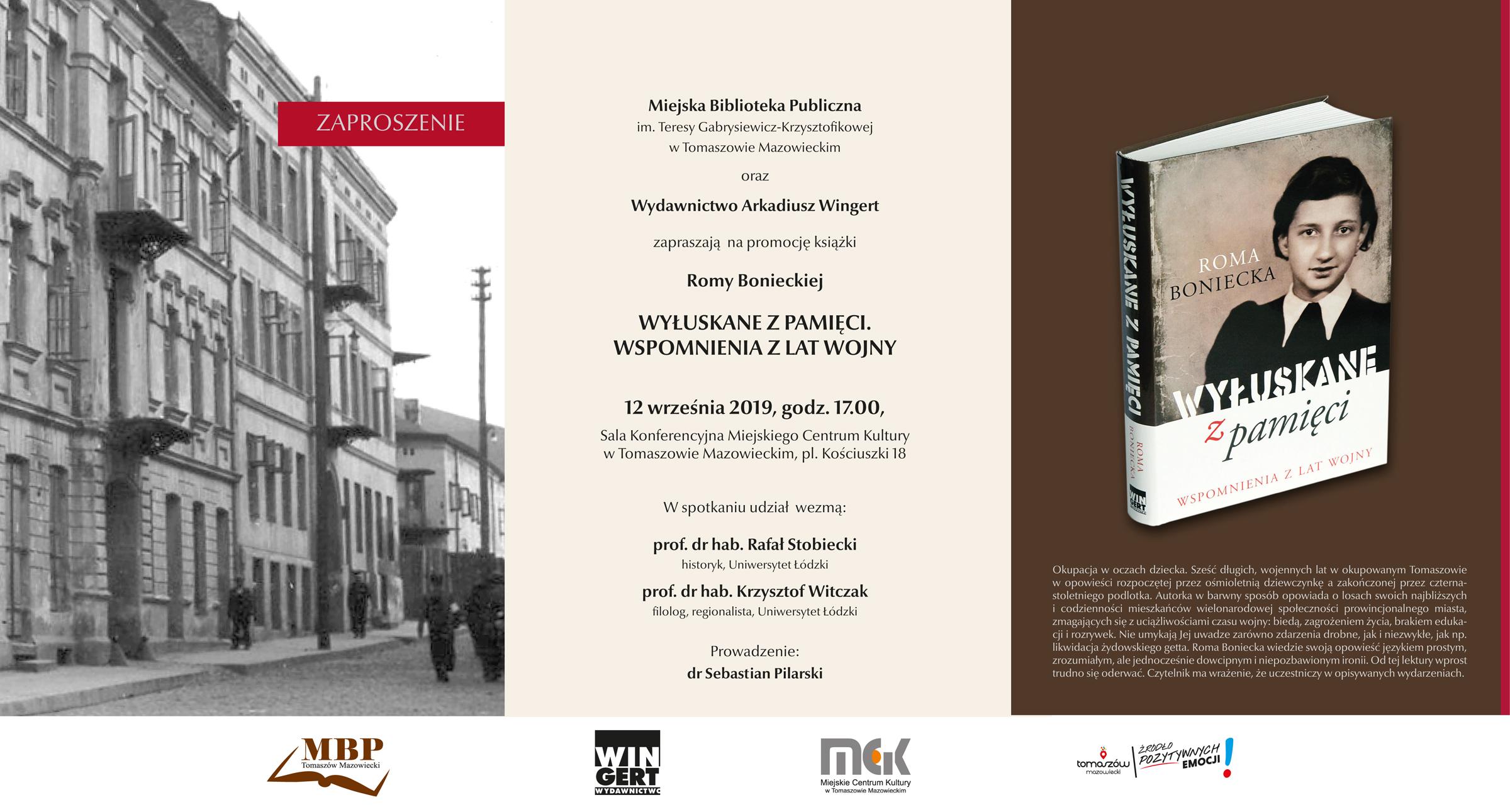 Promocja książki Romy Bonieckiej pt.: