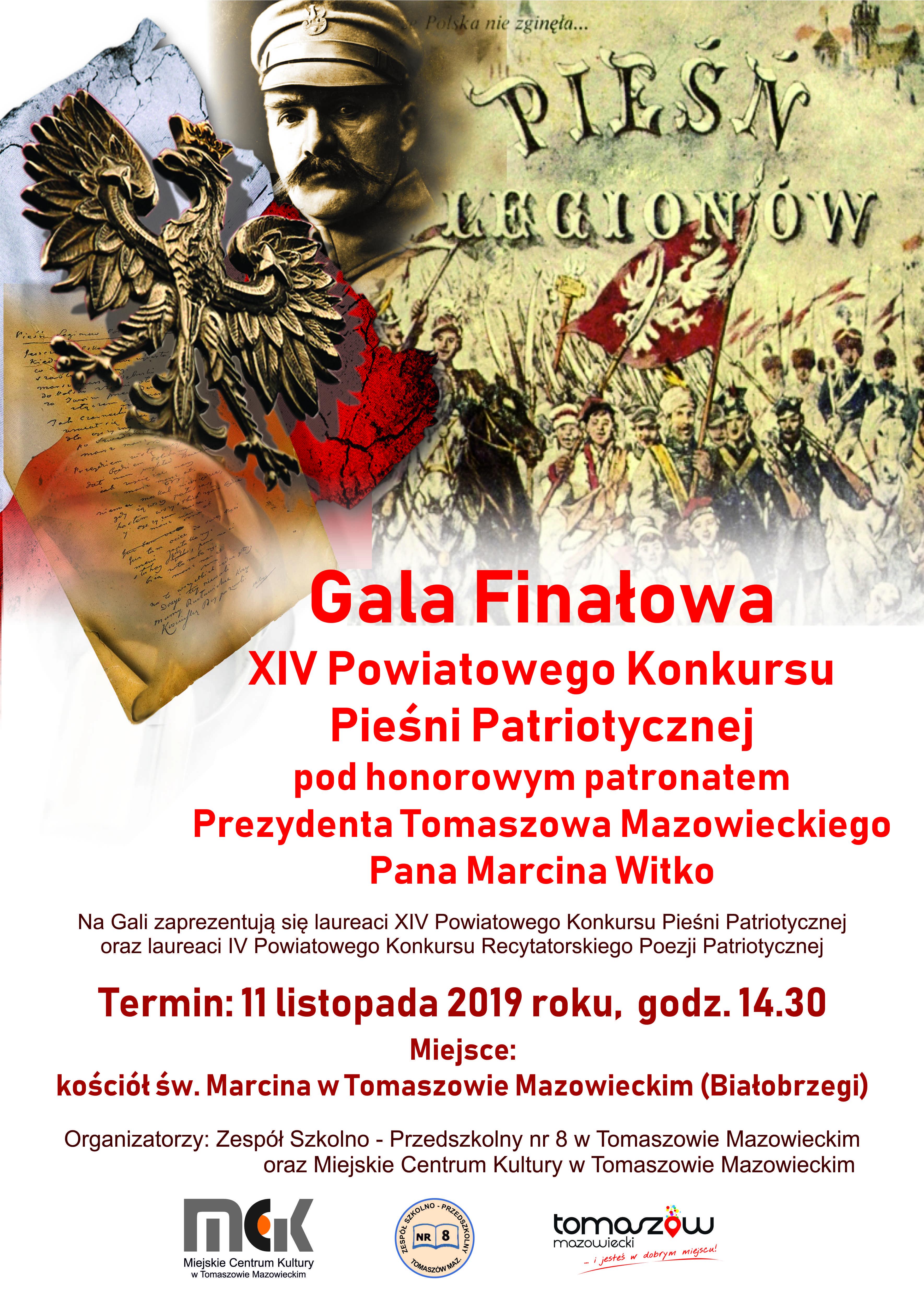Gala Finałowa XIV Powiatowego Konkursu Pieśni Patriotycznej
