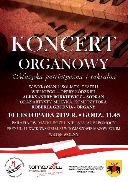 Koncert Organowy Muzyka Patriotyczna i Sakralna