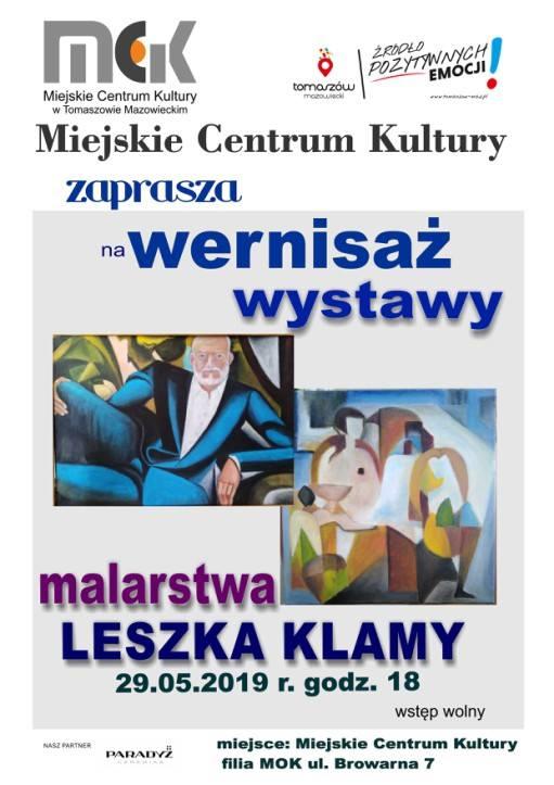 Wernisaż wystawy malarstwa Leszka Klamy