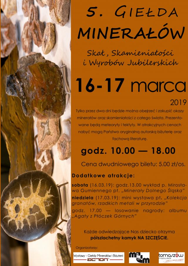 Wystawa - Giełda Minerałów, Skał, Skamieniałości i Wyrobów Jubilerskich