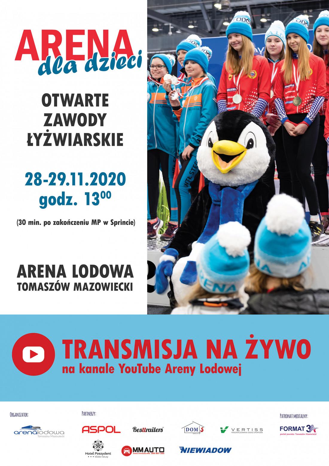 Arena dla dzieci - otwarte zawody łyżwiarskie