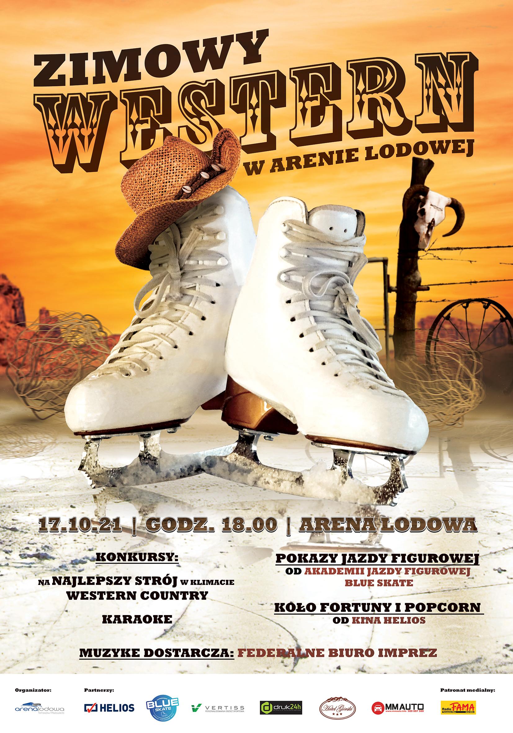 Zimowy Western w Arenie Lodowej - otwarcie zimowej ślizgawki